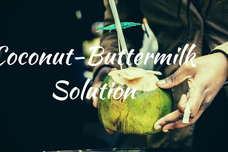 coconut buttermilk solution